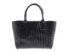 Authentic Bottega Veneta Cabas PM Patent Leather Black Tote bag Limited edition #BottegaVeneta #TotesShoppers