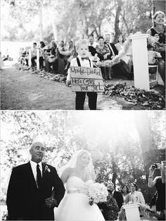 walking down the wedding aisle