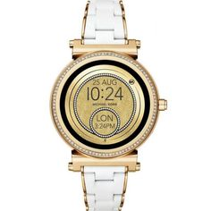 e644fef8ea19 Shop Michael Kors Access Sofie Smartwatch Stainless Steel White Gold at Best  Buy.