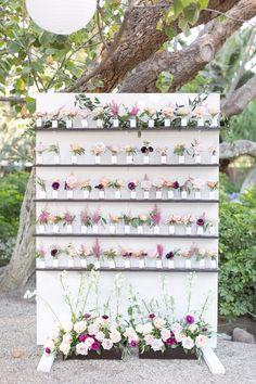 Flower seating chart idea!