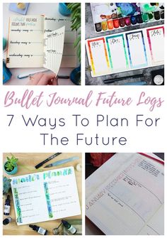 The future is coming whether you like it or not, so why not be prepared by creating your own bullet journal future log? Here are 7 ways to create yours! February Bullet Journal, Bullet Journal Spread, Bullet Journal Ideas Pages, Bullet Journal Inspiration, Community Boards, Bujo, Spreads, Productivity, How To Plan