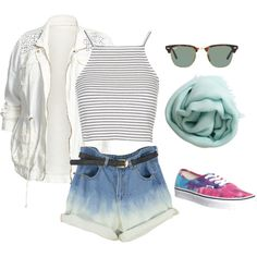 sportchic by pchelnikova on Polyvore featuring мода, Topshop, Lucky Brand, Vans, Faliero Sarti and Ray-Ban