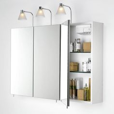 Superieur Bathroom Wall Cabinets With Mirrors