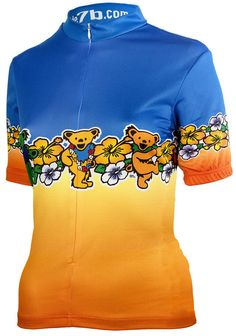 Grateful Dead Dancing Bears Women's Cycling Jersey Women's Cycling Jersey, Cycling Jerseys, Cycling Bikes, Grateful Dead Dancing Bears, Jersey Shirt, Hoodies, Sweatshirts, Biking, Sweaters