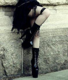 lower half of sexy goth Gothic Fashion   goth gothic style fashion girl women https://www.facebook.com/alternativestylepolska