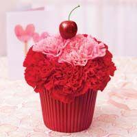 Super cute cupcake flower arrangement from Bloom in Algona:) <3 it!