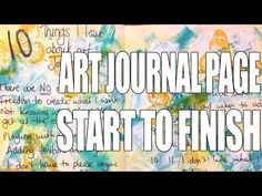 How to: Art Journal Page - Lists - YouTube