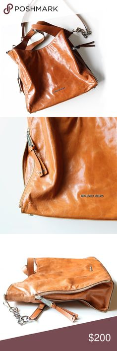 Michael Kors Camel colored purse Excellent pre loved condition. No major flaws/stains. Michael Kors Bags