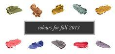 Pantone Fall Colors