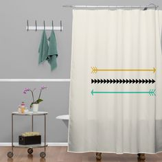 Allyson Johnson Minimal Arrows Shower Curtain | DENY Designs Home Accessories #denydesigns #denyholiday #homedecor