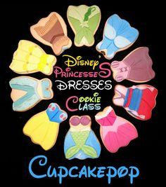 Curso de Galletas Vestidos de Princesas Disney