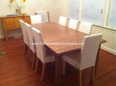 ikea dining table and chairs assembled in tysons corner va by Furniture assembly experts LLC - call City Furniture, Ikea Furniture, Office Furniture, Ikea Dining Table, Table And Chairs, Tysons Corner, Furniture Assembly, Northern Virginia