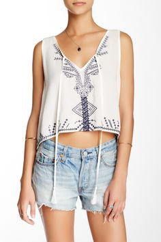 Embroidered Midi Tank by Whyte Eyelash on @nordstrom_rack