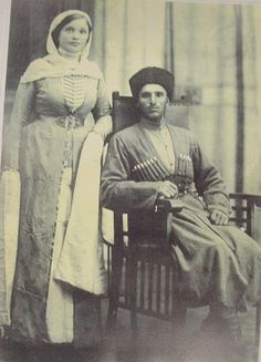 Circassian wife and husband, 1860s - during Russian/Ottoman perpetrated holocaust