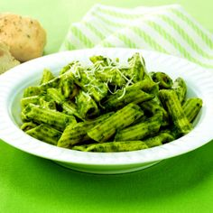 A blend of basil, Parmesan cheese and garlic helps create a perfectly seasoned Pesto Sauce for pasta.