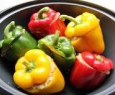Rezept Gefüllte Paprikaschoten von franziska-w - Rezept der Kategorie Hauptgerichte mit Fleisch
