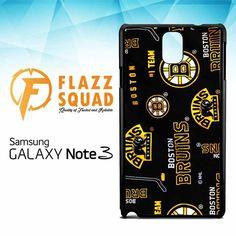 Custom Boston Bruins Hockey W4249 Samsung Galaxy Note 3 Case