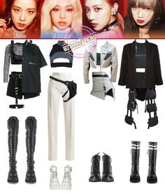 Check out Blackpink @ Iomoio Kpop Fashion Outfits, Blackpink Fashion, Stage Outfits, Edgy Outfits, Dance Outfits, Korean Fashion, Cute Outfits, Kpop Concert Outfit, Concert Dresses
