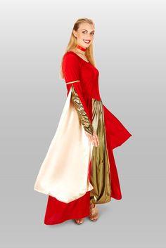 Great Halloween Costumes, Halloween Fashion, Halloween Trick Or Treat, Adult Halloween, Adult Costumes, Red Velvet, Renaissance, Facebook, Dresses