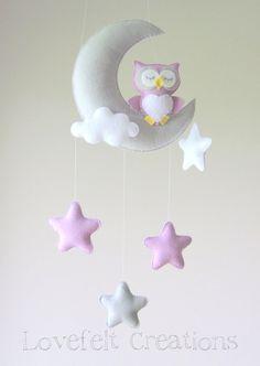 colgante: luna,buho,nube,estrellas