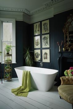 A Bathroom That Successfully Combines Modernity With Period Features – Dear Designer – Kitcapfix Dark Bathrooms, Beautiful Bathrooms, Small Bathroom, Bathroom Ideas, Budget Bathroom, Boho Bathroom, Bathroom Remodeling, Bathroom Design Inspiration, Bathroom Interior Design