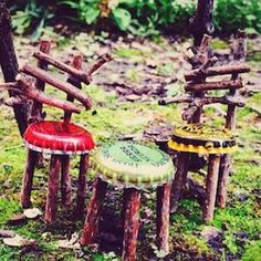 Get Crafty This Summer And Make Your Own Whimsical Fairy Garden With These Creative Diy Fairy Garden Ideas As Inspiration. Since Its Such A Fun And Easy Activity, It Makes A Great Summer Craft Idea To Do With Your Kids Over The Break. There Are Fairy Gar Fairy Garden Furniture, Fairy Garden Houses, Diy Fairy Garden, Gnome Garden, Fairies Garden, Fairy Houses Kids, Backyard Ideas, Diy Garden Ideas For Kids, Diy Fairy House