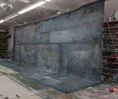 "Oliphant Backdrops - 1568 Grey & Black ""factory wall"""