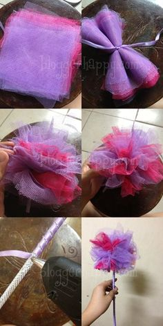 DIY fairy wands, for garden parties. Whether you're dressing up as a fairy for Halloween or you simply want to look like one for a special event, there are countless ideas that you can use to make your very own fairy costume for… Fairy Birthday Party, Princess Birthday, Princess Party, Girl Birthday, Birthday Parties, Tulle Crafts, Diy Crafts, Wood Crafts, Fairy Costume For Girl
