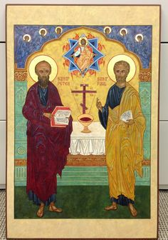 Holy Apostle Peter & Holy Apostle Paul prior to applying olifa.