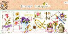 """The Flower Garden"" Cross stitch pattern leaflet. Big Chart."
