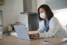 Woman working from home during coronavirus outbreak - Buy this stock photo and explore similar images at Adobe Stock Selfie, Corona, Television Tv, Stay At Home, Psychics, Selfies