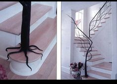 Fantastically creative handrail and completely original.