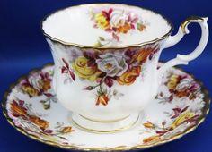 "Royal Albert cup and saucer ""Lenora"""