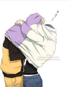 Primeiro eu pensei: Não ele não faria isso, provavelmente a mão dele está segurando o rosto dela. Aí eu olhei bem e percebi que se fosse isso mesmo o cotovelo dele estaria mais pra dentro e sei lá talvez o braço um pouco mais esticado. Resumo: Naruto está com a mão nos peitos da Hinata, ele é um safado!  Mas disso eu já sabia 😏☻😏☻
