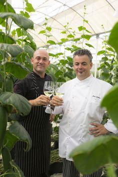 Chef Julio Gómez-Fraile  and Chef Josh Silvers. Greenhouse El Dorado Royale a Spa Resort. Riviera Maya. Jackson Family Wines Culinary Series by Karisma