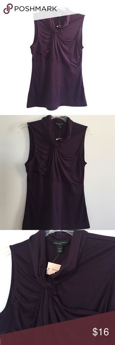 NWT Purple Banana Republic Silk Top MP NWT! Beautiful purple color with these drapes and folds! Banana Republic Tops Blouses