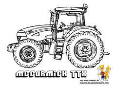 Realistic Tractor Coloring Pages Printable Construction