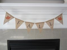 Fall burlap banner by willowbloomwreaths