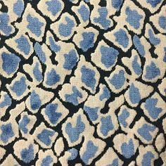 Velvet Upholstery Fabric Hendrix Indigo Leopard Print Cut Home Decor
