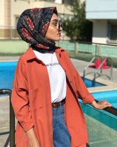 Hijab Fashion Summer, Modern Hijab Fashion, Street Hijab Fashion, Muslim Fashion, Hijab Style, Hijab Chic, Modest Dresses, Modest Outfits, Maxi Dresses