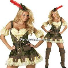 Tu mejor disfraz de robin hood adulto para mujer lujo.Convertire en un Arquera de la Edad Media en Ferias Medievales, recrear a un fornida leñadora en Carnaval o encarnar al personaje de Robin Hood mujer en Fiestas de Disfraces Temáticas.
