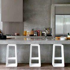 Very modern bar stools....  I like.  :-)