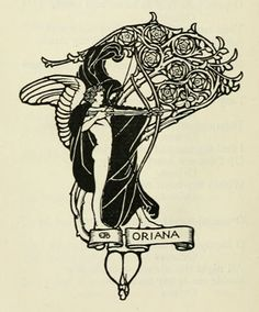 Drawing from an edition of Alfred Tennyson's Poems illustrated by British artist Eleanor Fortescue-Brickdale (1872–1945)