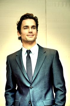 """telesilla: """" """" elegant and classy Matt Bomer """" Reblogging to say I'd wear the hell out of a suit like that. I love that fabric. :) """""""