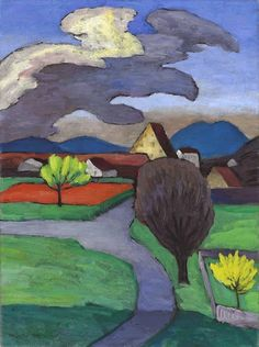 Gabriele Münter - Bäumende Cloud over the Castle 1939