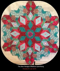 new hexegon millefiori quilts - Google Search