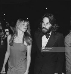 Dennis Wilson (1944-1983), drummer with 'The Beach Boys', with his wife, US actress Karen Lamm (1952–2001), attending the 19th annual Grammy Award, held at the Hollywood Palladium in Hollywood, California, USA, 19 February 1977.