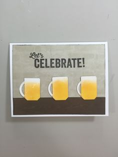 Lets celebrate with a beer mug card cards pinterest lets celebrate beer mug card barbaramichelle bookmarktalkfo Image collections