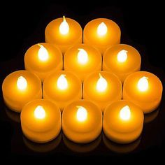 Flameless LED Candle Flickering Tea Lights Battery Operated Wedding Home Candles Home Candles, Flameless Candles, Tea Light Candles, Bathroom Candles, Pillar Candles, Floating Candles Wedding, Led Candle Lights, Battery Operated Tea Lights, Candle Making