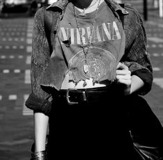 Tattered Nirvana Shirt. Grunge style. Band shirts can never have too many holes - It just gives them more character!